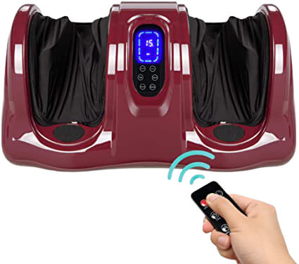 Therapeutic Shiatsu Foot Massager Kneading and Rolling for Foot