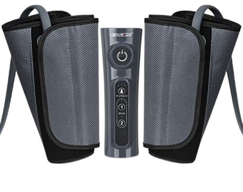 CINCOM Foot Massager for Circulation Air Compression Calf Wraps with 2 Modes 3 Intensities and Helpful for RLS and Edema