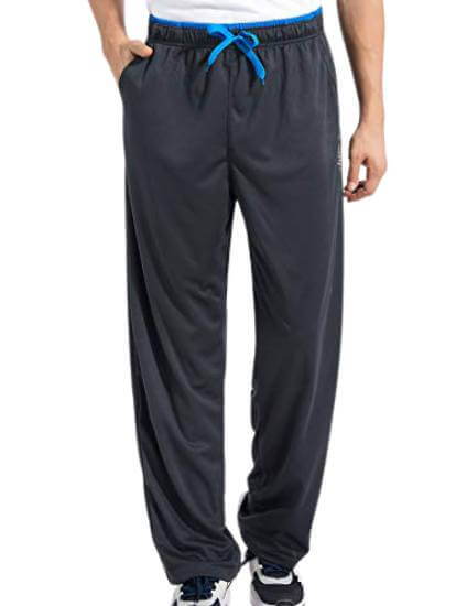 Duuluup Men's Sweatpants with Pockets Open Bottom Athletic Yoga Pants Loose Fit Active Jogger Pants.